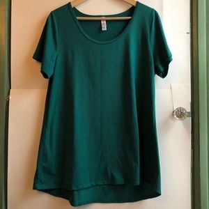 LULAROE Classic T Dark Green Short Sleeve Blouse